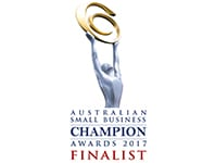 Australian Small Business Champion Awards 2017 Finalist